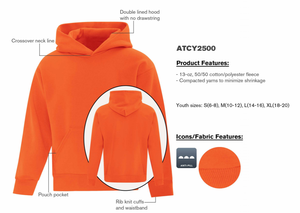 ATC Everyday Hoodie - Youth - ATCY2500 - Orange - Ends Monday overnight - Ready to Ship Friday