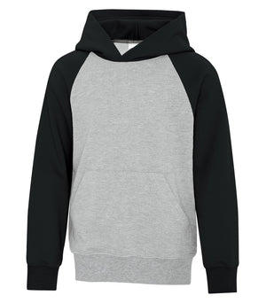 ATC TWO TONE HOODIE ATCY25500 - youth - black/heather grey - Ends Monday overnight - Ready to Ship Friday