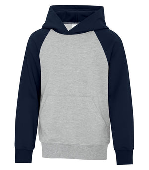 ATC TWO TONE HOODIE ATCY25500 - youth - navy/heather grey - Ends Monday overnight - Ready to Ship Friday