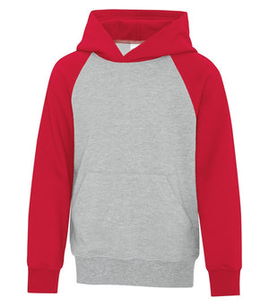 ATC TWO TONE HOODIE ATCY25500 - youth - red/heather grey - Ends Monday overnight - Ready to Ship Friday