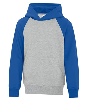 ATC TWO TONE HOODIE ATCY25500 - youth - royal blue/heather grey - Ends Monday overnight - Ready to Ship Friday