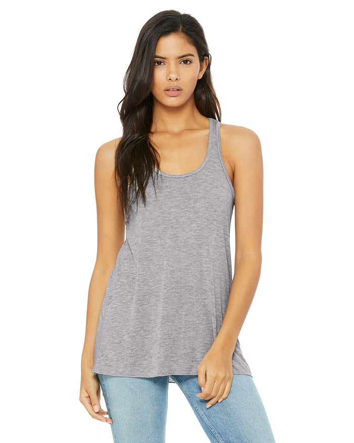 Bella + Canvas Flowy Racerback B8800 - ATHLETIC HEATHER - ENDS Monday overnight - Ready to ship Friday
