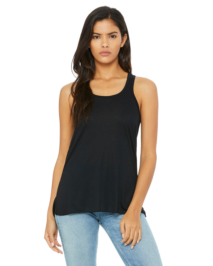 Bella + Canvas Flowy Racerback B8800 - BLACK - ENDS Monday overnight - Ready to ship Friday