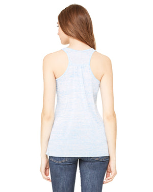 Bella + Canvas Flowy Racerback B8800 - BLUE MARBLE - ENDS Monday overnight - Ready to ship Friday
