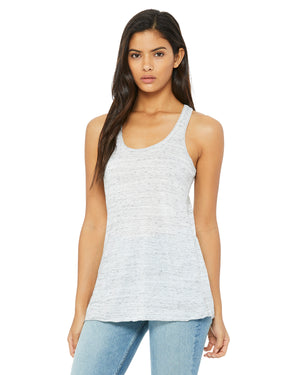 Bella + Canvas Flowy Racerback B8800 - WHITE MARBLE - ENDS Monday overnight - Ready to ship Friday