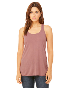 Bella + Canvas Flowy Racerback B8800 - MAUVE - ENDS Monday overnight - Ready to ship Friday