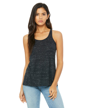 Bella + Canvas Flowy Racerback B8800 - BLACK MARBLE - ENDS Monday overnight - Ready to ship Friday