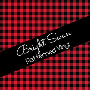 Patterned Vinyl & HTV - Buffalo Plaid - Red