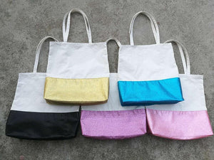 Glitter canvas tote bags - Clearance