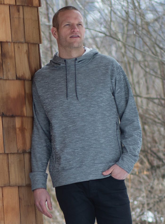 DRYFRAME Drytech Fleece Pullover Unisex Hoodie - Asphalt Heather - DF7656 - ENDS MONDAY OVERNIGHT - READY TO SHIP FRIDAY
