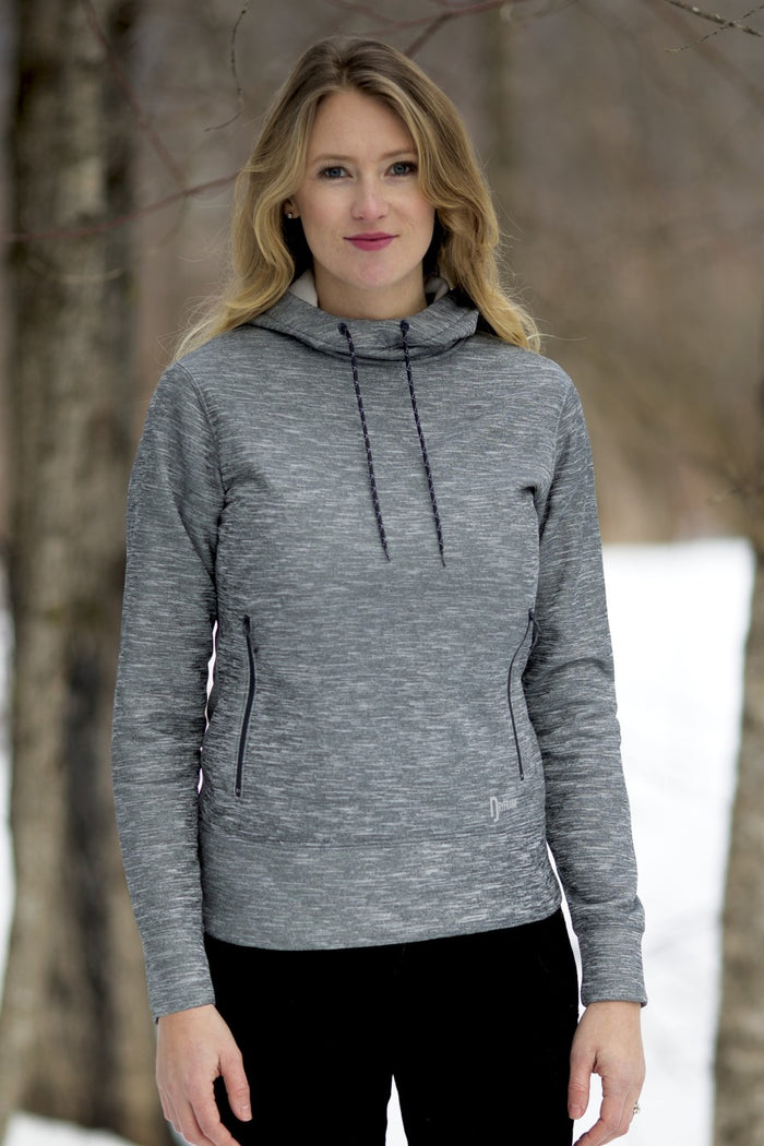 DRYFRAME Drytech Fleece Ladies Pullover Hoodie - Asphalt Heather - DF7656L - ENDS MONDAY OVERNIGHT - READY TO SHIP FRIDAY