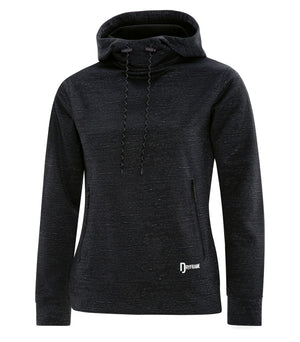DRYFRAME Drytech Fleece Ladies Pullover Hoodie - Black Heather - DF7656L - ENDS MONDAY OVERNIGHT - READY TO SHIP FRIDAY