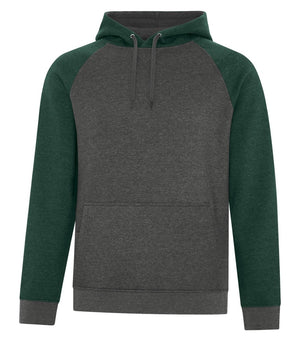 ATC Esactive Vintage Two-Tone Hoodie - F2044 - Forest Heather/Charcoal Heather - ends Monday night overnight - ready to ship Friday