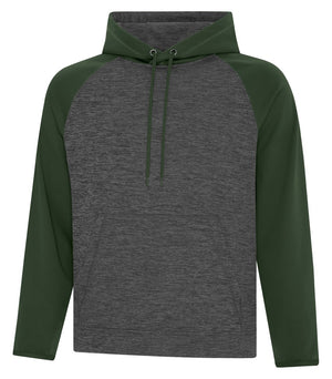 ATC DYNAMIC FLEECE TWO TONE HOODIE - UNISEX - F2047 - Charcoal/Forest Green - Ends Monday overnight - Ready to Ship Friday