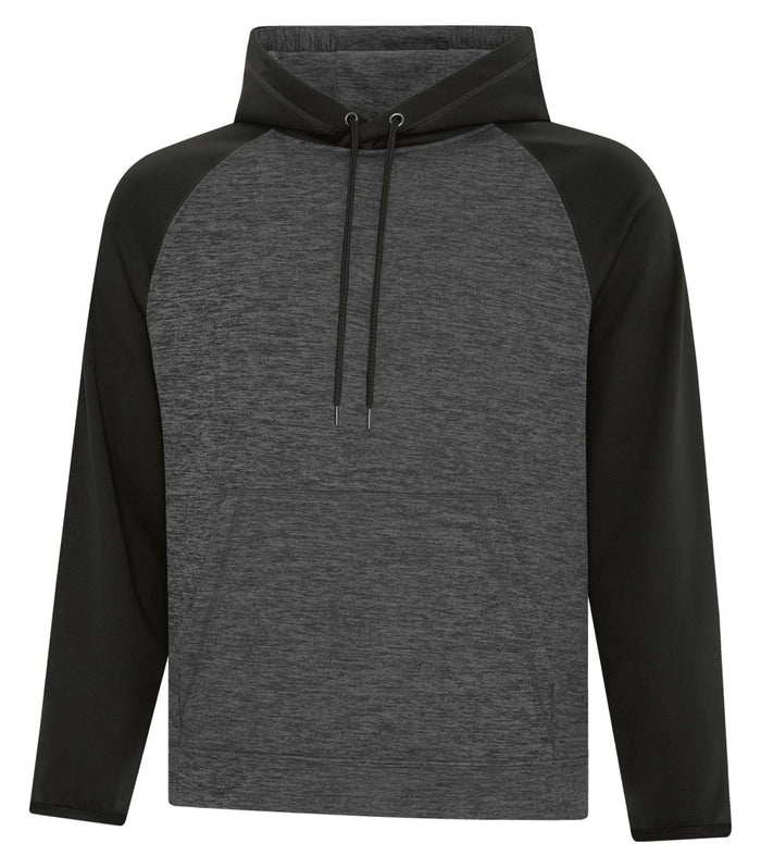 ATC DYNAMIC FLEECE TWO TONE HOODIE - UNISEX - F2047 - Charcoal/black - Ends Monday overnight - Ready to Ship Friday
