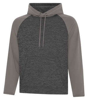 ATC DYNAMIC FLEECE TWO TONE HOODIE - UNISEX - F2047 - Charcoal/coal grey - Ends Monday overnight - Ready to Ship Friday