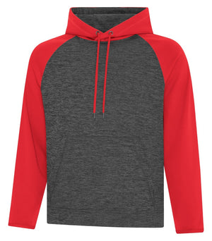 ATC DYNAMIC FLEECE TWO TONE HOODIE - UNISEX - F2047 - Charcoal/Red - Ends Monday overnight - Ready to Ship Friday