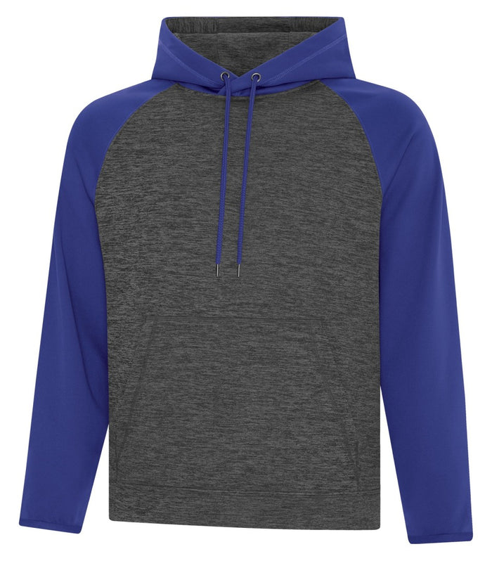 ATC DYNAMIC FLEECE TWO TONE HOODIE - UNISEX - F2047 - Charcoal/Royal Blue - Ends Monday overnight - Ready to Ship Friday