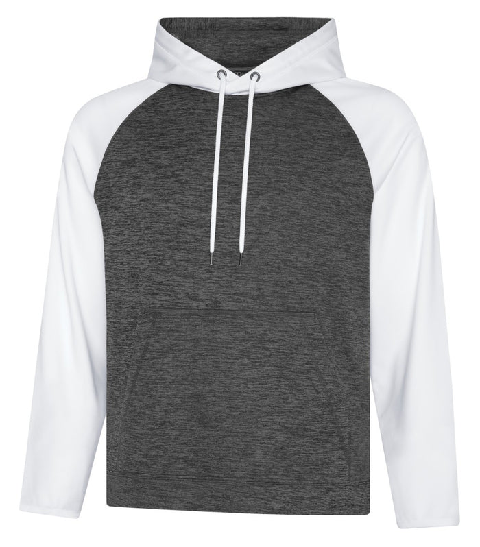 ATC DYNAMIC FLEECE TWO TONE HOODIE - UNISEX - F2047 - Charcoal/White - Ends Monday overnight - Ready to Ship Friday