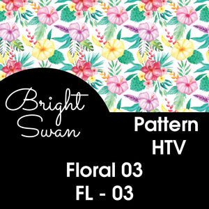 Patterned Vinyl & HTV - Floral 03