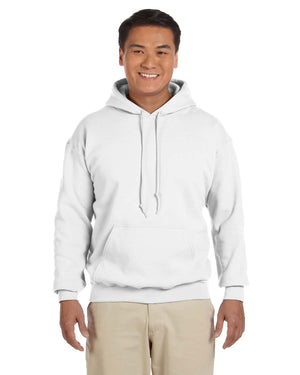 Gildan Hoodie - G18500 - White - ENDS Monday overnight - Ready to ship Friday