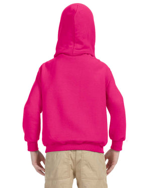 Youth Hoodie - Gildan - G18500B - HELICONIA - backordered until april