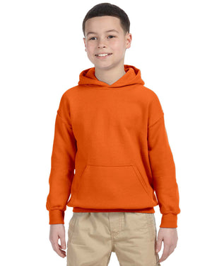 Youth Hoodie - Gildan - G18500B - ORANGE - ENDS Monday night - Ready To Ship Friday