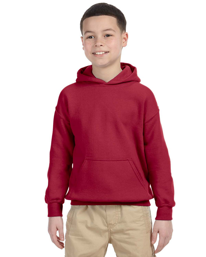 Youth Hoodie - Gildan - G18500B - CARDINAL RED - ENDS Monday night - Ready To Ship Friday