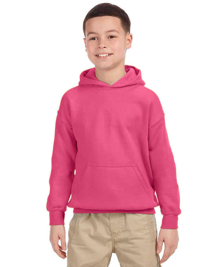 Youth Hoodie - Gildan - G18500B - SAFETY PINK - ENDS Monday night - Ready To Ship Friday