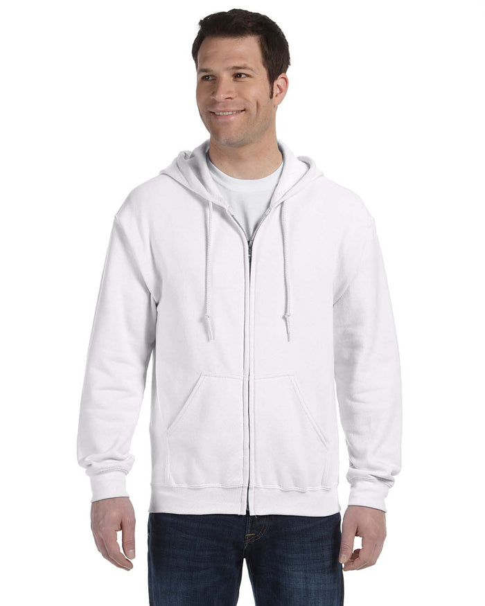 Gildan Hoodie - Full Zip - G18600 - White - ENDS Monday overnight - Ready to ship Friday