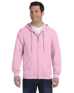 Gildan Hoodie - Full Zip - G18600 - Light Pink - BACKORDERED
