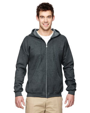 Gildan Hoodie - Full Zip - G18600 - Dark Heather Grey - ENDS Monday overnight - Ready to ship Friday