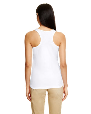 Gildan Ladies' Racerback Tank - Softstyle - WHITE - G6450RL - ENDS Monday night - Ready to ship Friday