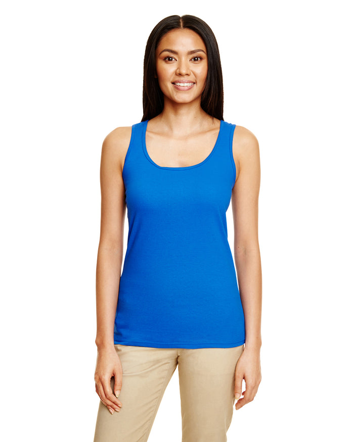 Gildan Ladies' Racerback Tank - Softstyle - ROYAL BLUE - G6450RL - ENDS Monday night - Ready to ship Friday