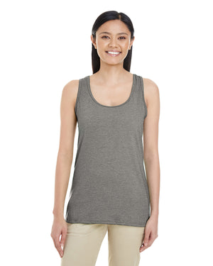 Gildan Ladies' Racerback Tank - Softstyle - GRAPHITE HEATHER - G6450RL - ENDS Monday night - Ready to ship Friday