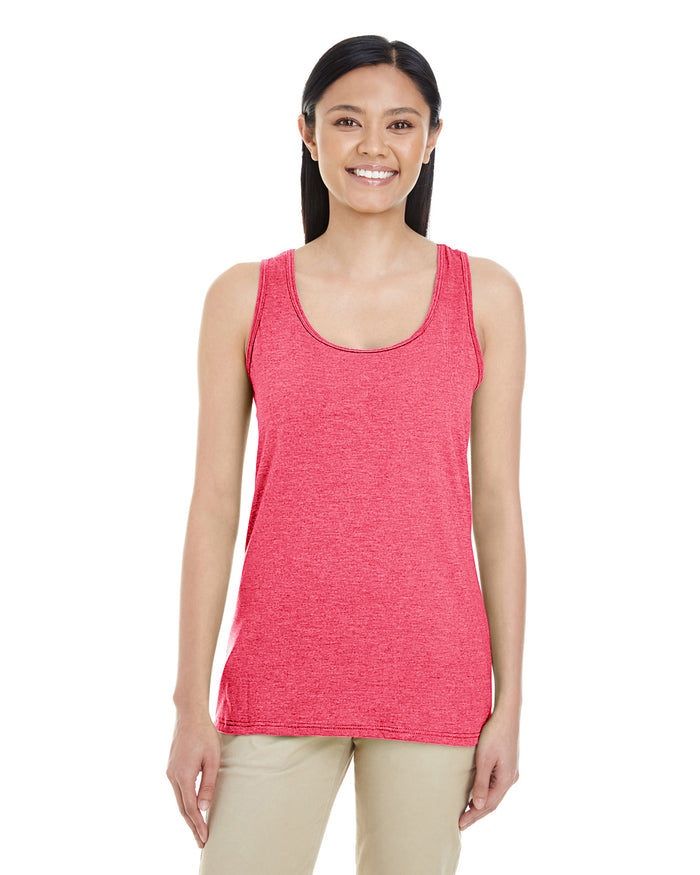 Gildan Ladies' Racerback Tank - Softstyle - HEATHER RED - G6450RL - ENDS Monday night - Ready to ship Friday