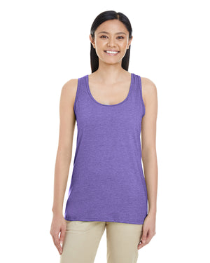 Gildan Ladies' Racerback Tank - Softstyle - HEATHER PURPLE - G6450RL - ENDS Monday night - Ready to ship Friday