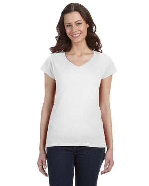 Gildan Ladies' SoftStyle G640VL - WHITE - ENDS Monday night - Ready to ship Friday