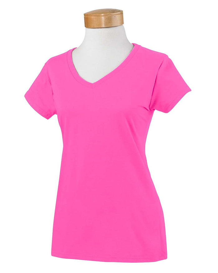 Gildan Ladies' SoftStyle G640VL - AZALEA - ENDS Monday night - Ready to ship Friday
