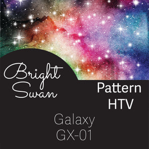 Patterned HTV - Galaxy - GX01
