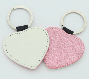 Sublimation Sparkley Key Chain - Heart - Ready To Ship Apr 22 approx