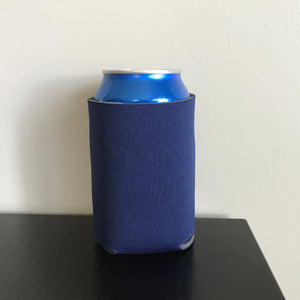 12oz can koozies - navy blue