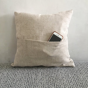 Pocket pillow cover