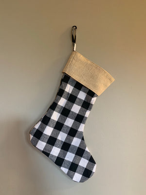 Stockings - Burlap & Plaid - Extras - Ready to ship early Dec