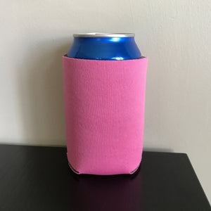 12oz can koozies - neon pink