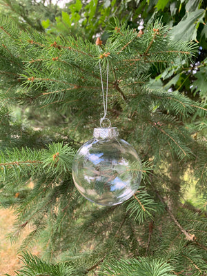 80mm clear acrylic m&m style disc ornament
