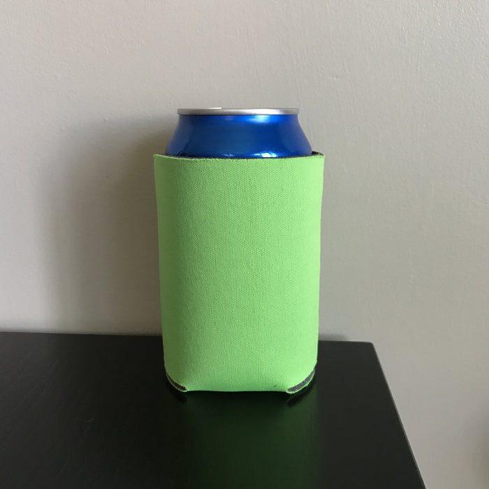 12oz can koozies - neon green