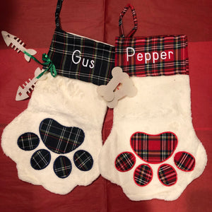 Paw print stocking - ENDS SEPT 20 - READY TO SHIP EARLY NOV