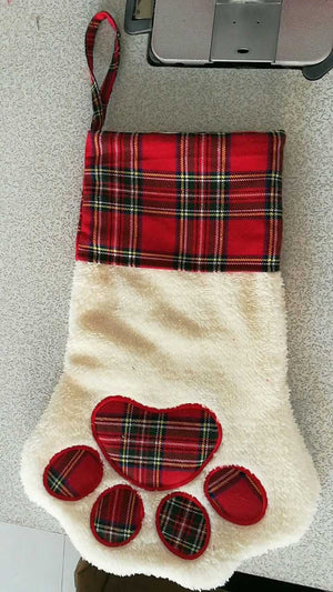 Paw print stocking - ENDS Oct 4 - READY TO SHIP MID NOV