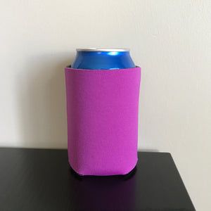12oz can koozies - fuchsia